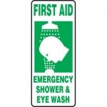 """Accuform MFSD996XL, Sign """"First Aid Emergency Shower & Eye Wash"""""""