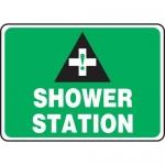 "Accuform MFSD998XL, 10″ x 14″ Aluma-Lite Safety Sign: ""Shower Station"""