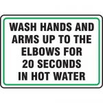 "Accuform MFSY506XP, Sign ""Wash Hands and Arms Up to The Elbows…"""