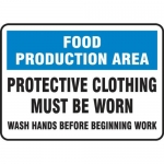 """Accuform MFSY559XL, Sign """"Protective Clothing Must Be Worn Wash…"""""""