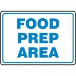 "Accuform MFSY560XF, 10″ x 14″ Dura-Fiberglass Sign: ""Food Prep Area"""