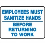 """Accuform MFSY573XF, Sign """"Employees Must Sanitize Hands Before …"""""""