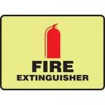 """Accuform MFXG401XL, 7″ x 10″ Aluma-Lite Glow Sign: """"Fire Extinguisher"""""""