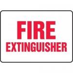 """Accuform MFXG406VA, 7″ x 10″ Aluminum Sign: """"Fire Extinguisher"""""""