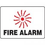 """Accuform MFXG409VA, 10″ x 14″ Aluminum Graphic Sign: """"Fire Alarm"""""""