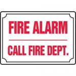 "Accuform MFXG413XL, Aluma-Lite Sign ""Fire Alarm Call Fire Dept"""