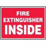 "Accuform MFXG425XL, Aluma-Lite Sign ""Fire Extinguisher Inside"""