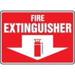 """Accuform MFXG428XT, Dura-Plastic Safety Sign """"Fire Extinguisher"""""""