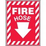 "Accuform MFXG432VA, Aluminum Sign ""Fire Hose"" & Down Arrow Symbol"