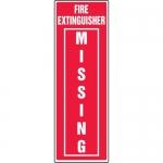 "Accuform MFXG443XL, Aluma-Lite Sign ""Fire Extinguisher Missing"""