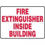 """Accuform MFXG451VA, Aluminum Sign """"Fire Extinguisher Inside Building"""""""
