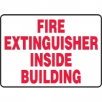 "Accuform MFXG451VS, Vinyl Sign ""Fire Extinguisher Inside Building"""