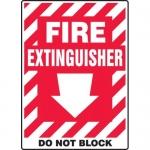 "Accuform MFXG456VA, Sign ""Fire Extinguisher Do Not Block"" & Down Arrow"