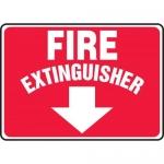 "Accuform MFXG459VA, Sign ""Fire Extinguisher"" & Down Arrow Symbol"