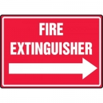 "Accuform MFXG462VA, Sign ""Fire Extinguisher"" & Right Arrow Symbol"