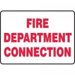 "Accuform MFXG481XL, Aluma-Lite Sign ""Fire Department Connection"""