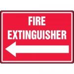 """Accuform MFXG483VA, Aluminum Sign """"Fire Extinguisher"""" & Left Arrow"""