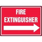 "Accuform MFXG484VA, Aluminum Sign ""Fire Extinguisher"" & Right Arrow"