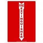 "Accuform MFXG500VA, Sign ""Fire Extinguisher"" & Down Arrow Symbol"