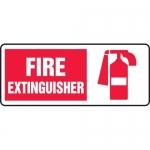 """Accuform MFXG504VA, Aluminum Sign """"Fire Extinguisher"""" & Symbol"""