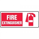 "Accuform MFXG504XL, Aluma-Lite Sign ""Fire Extinguisher"" & Symbol"