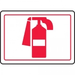 "Accuform MFXG514XL, Aluma-Lite Graphic Sign ""Fire Extinguisher Symbol"""