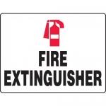 "Accuform MFXG517XL, BIGSigns Aluma-Lite Sign ""Fire Extinguisher"""