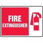 "Accuform MFXG518XL, Aluma-Lite Safety Sign ""Fire Extinguisher"""