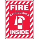 "Accuform MFXG519VS, Adhesive Vinyl Sign ""Fire Extinguisher Inside"""
