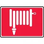 """Accuform MFXG521XL, 10″ x 14″ Aluma-Lite Sign: """"Fire Hose Symbol"""""""
