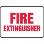 """Accuform MFXG522XT, Dura-Plastic Fire Safety Sign """"Fire Extinguisher"""""""