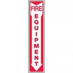 """Accuform MFXG534VA, Aluminum Sign """"Fire Equipment"""" & Down Arrow Symbol"""