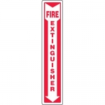 "Accuform MFXG545VA, Safety Sign ""Fire Extinguisher"" & Down Arrow"