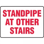 """Accuform MFXG552XP, Accu-Shield Sign """"Standpipe at Other Stairs"""""""