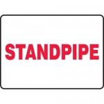 "Accuform MFXG554XP, 10″ x 14″ Accu-Shield Sign: ""Standpipe"""