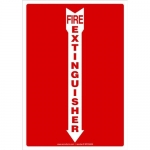 "Accuform MFXG556VA, Sign ""Fire Extinguisher"" & Down Arrow Symbol"