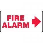 """Accuform MFXG560VA, Aluminum Sign """"Fire Alarm"""" & Right Arrow Symbol"""