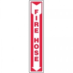 "Accuform MFXG563VP, Plastic Sign ""Fire Hose"" & Down Arrow Symbol"