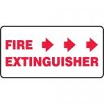 "Accuform MFXG566VA, Sign ""Fire Extinguisher"" & Three Right Arrows"