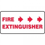 """Accuform MFXG566XF, Sign """"Fire Extinguisher"""" & Three Right Arrows"""