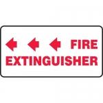 "Accuform MFXG568XL, Sign ""Fire Extinguisher"" & Three Left Arrows"