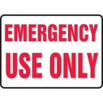 """Accuform MFXG572VP, 10″ x 14″ Plastic Sign: """"Emergency Use Only"""""""