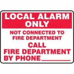 "Accuform MFXG573VA, Sign ""Local Alarm Only Not Connected to Fire …"""