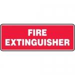 """Accuform MFXG577VA, 5″ x 14″ Aluminum Sign: """"Fire Extinguisher"""""""