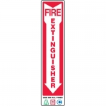 "Accuform MFXG578VA, Aluminum Sign ""ABC Fire Extinguisher"" & Down Arrow"