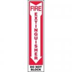 "Accuform MFXG580XL, Aluma-Lite Sign ""Fire Extinguisher Do Not Block"""