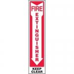 "Accuform MFXG584XL, Aluma-Lite Sign ""Fire Extinguisher Keep Clear"""