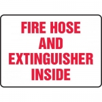 "Accuform MFXG589VA, Aluminum Sign ""Fire Hose and Extinguisher Inside"""