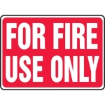 """Accuform MFXG590XL, 10″ x 14″ Aluma-Lite Sign: """"For Fire Use Only"""""""