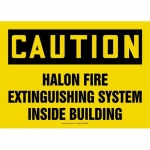 "Accuform MFXG603VS, Sign ""Halon Fire Extinguisher System Inside…"""